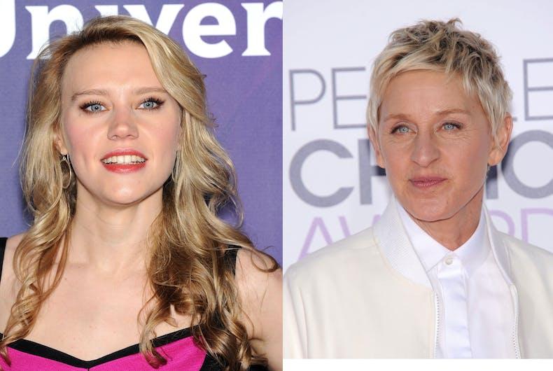 Out comedians Kate McKinnon and Ellen DeGeneres