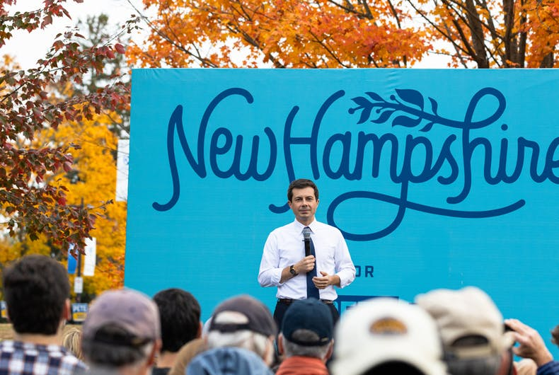 Oct 25, 2019: South Bend Mayor Pete Buttigieg speaks at a campaign town hall meeting at the University of New Hampshire.