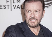 "Ricky Gervais says his tweets about trans women were just ""jokes"" with a spoof account"