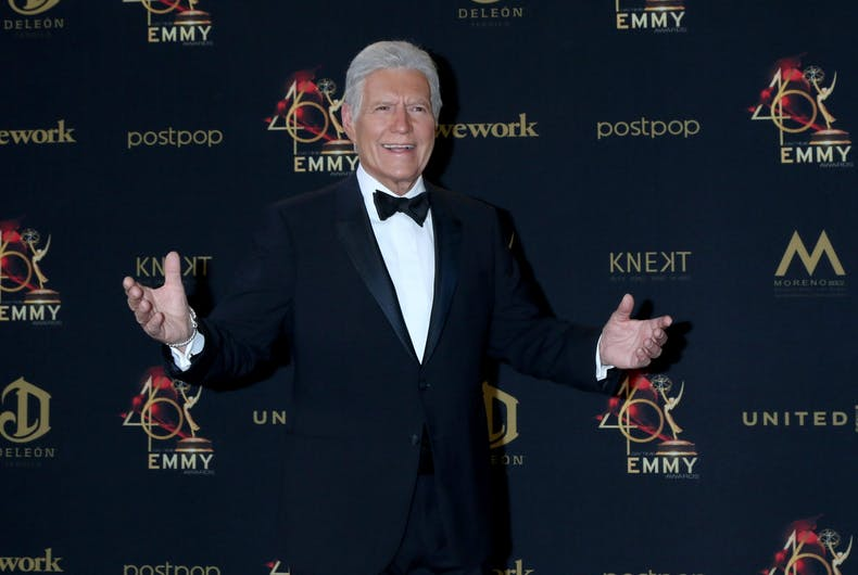 Jeopardy host Alex Trebek at the 2019 Daytime Emmy Awards on May 5 in Pasadena, CA