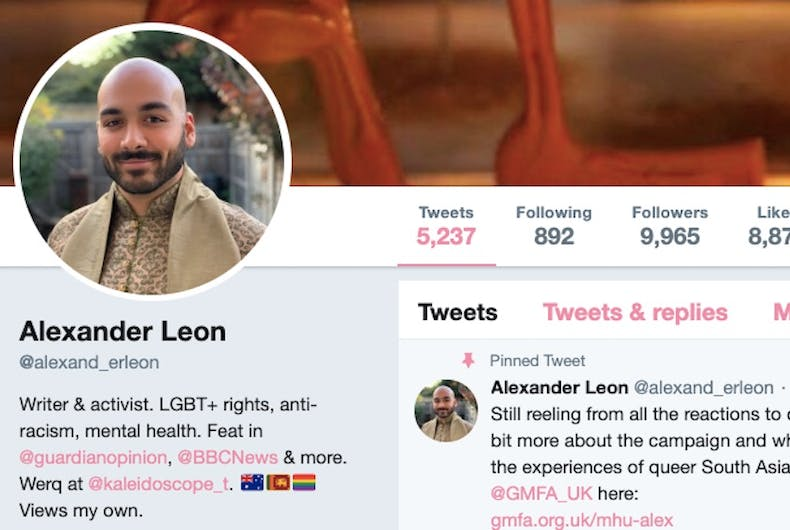 Alexander Leon has gone viral with his twitter thread discussing LGBTQ mental health