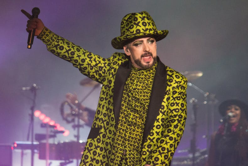 Boy George has been accused of transphobia after calling pronouns