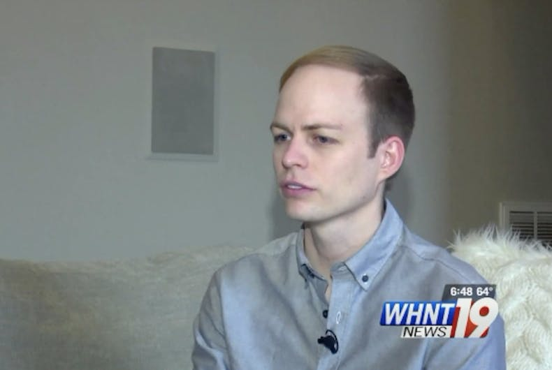 Colin Tomblin, the gay man who posted footage of James Clemens High School baseball players shouting homophobic slurs while driving past his home.