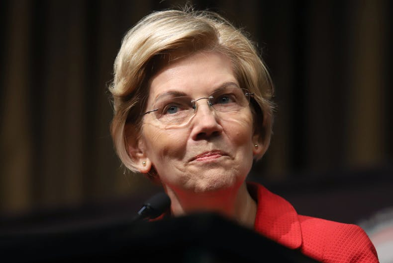 Elizabeth Warren talks about transgender prisoners.