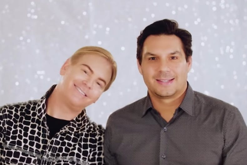 Jerrod Blandino (left) and his husband Jeremy Johnson, co-founder and CEO of Too Faced.