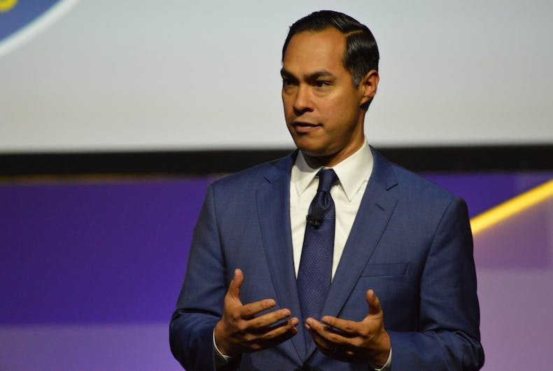 July 24 2019: Democratic Presidential Candidate Julián Castro delivers a speech at the 110th NAACP convention's Presidential Candidates Forum in Detroit.