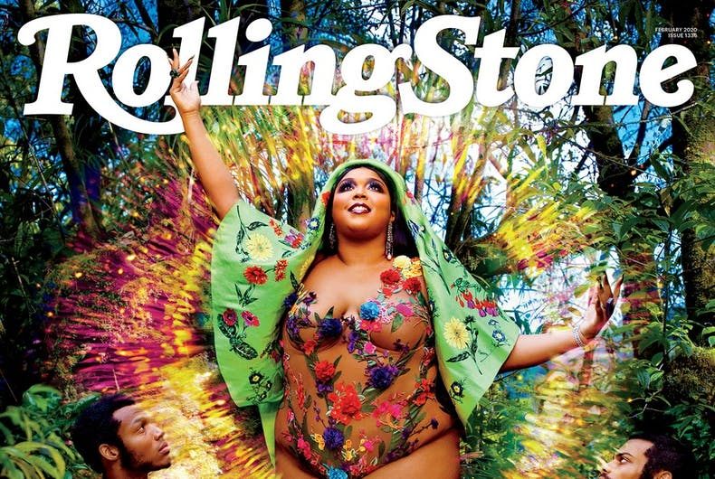 Lizzo on the cover of Rolling Stone