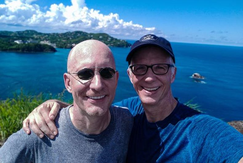 Michael and Brent in St. Lucia