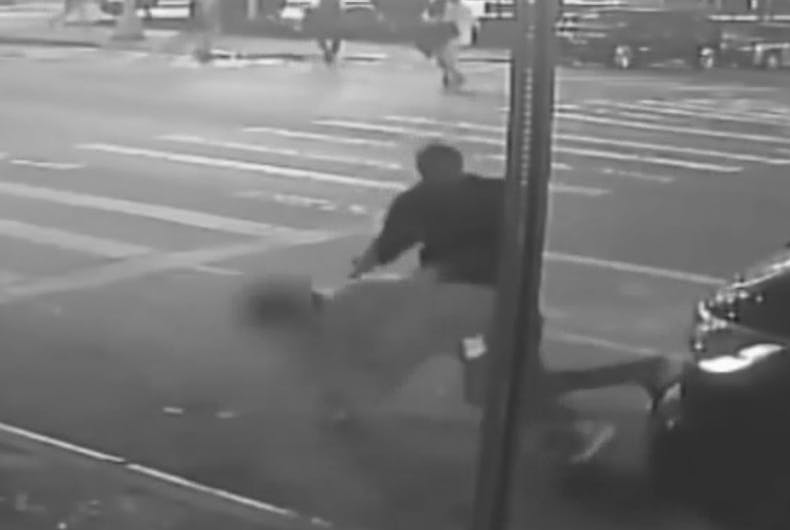 Surveillance footage of the attack