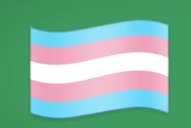 The transgender flag emoji has finally arrived