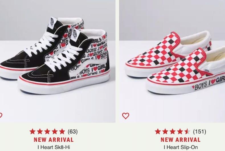 Van has just released new sneakers that proudly declare