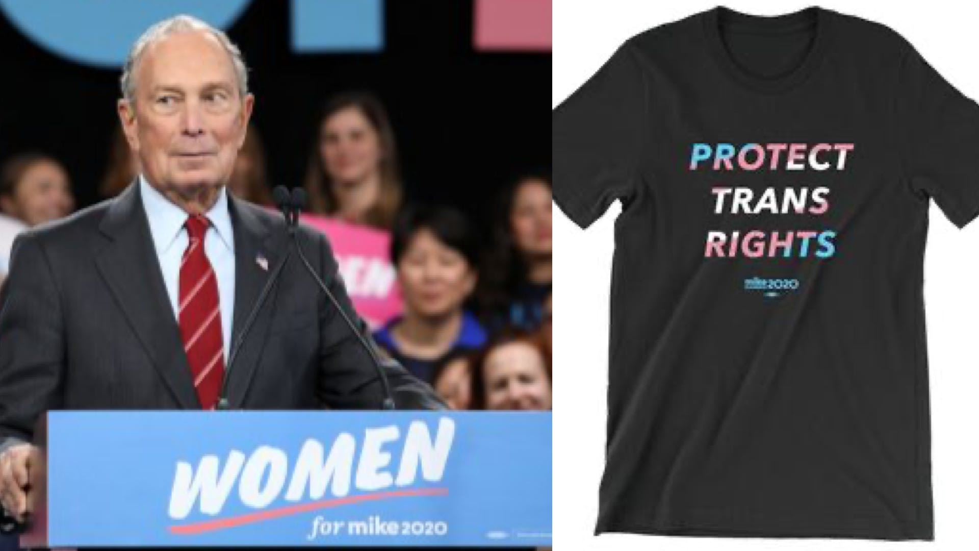 Bloomberg hasn't apologize for anti-trans past but is selling a 'protect trans rights' tee