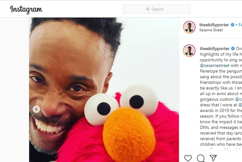 Billy Porter sends classy message to One Million Moms over 'Sesame Street' episode