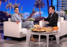 Matt Bomer revealed a secret on Ellen while Sean Hayes was guest host