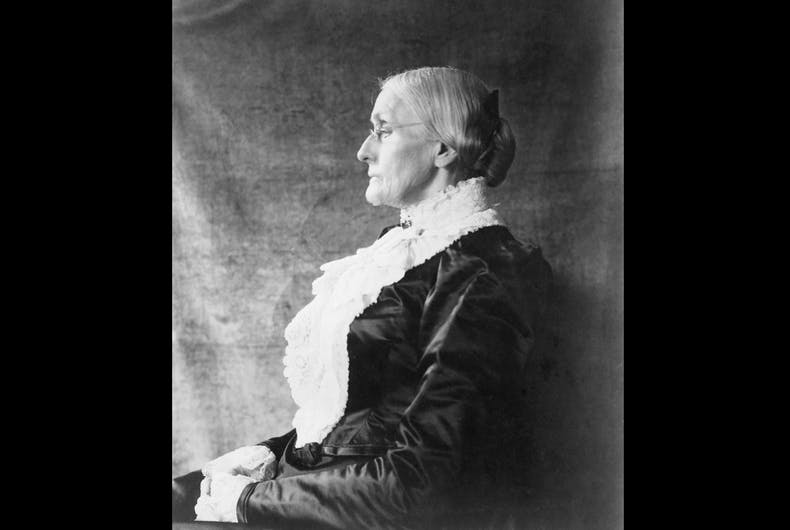 Susan B. Anthony (1820-1906) ca.1890.