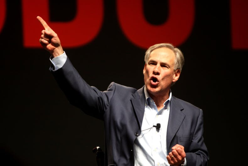 Texas Governor Greg Abbott speaking at FreePac, hosted by FreedomWorks, in Phoenix, Arizona.