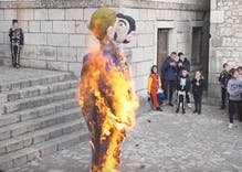 "Town burns effigy of kissing gay couple holding a child as part of carnival ""celebration"""