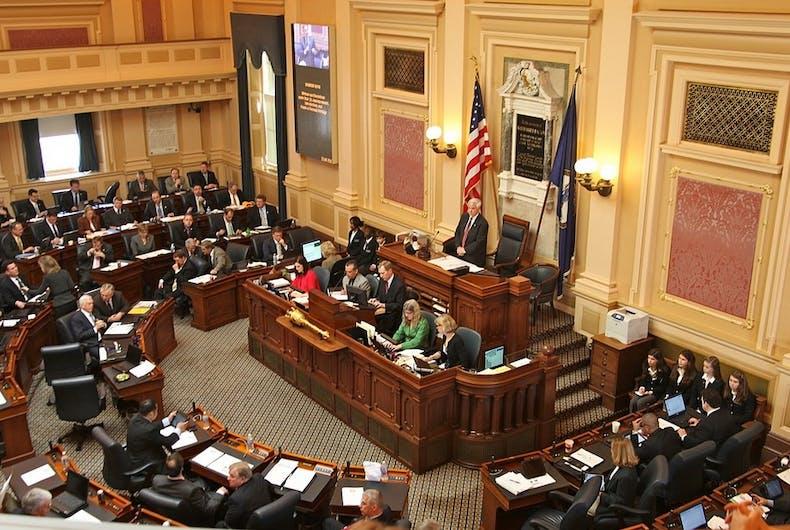 Speaker of the Virginia House of Delegates William J. Howell presiding over the House on January 12, 2012