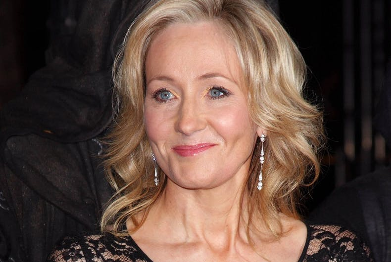 J.K. Rowling at the world premiere of