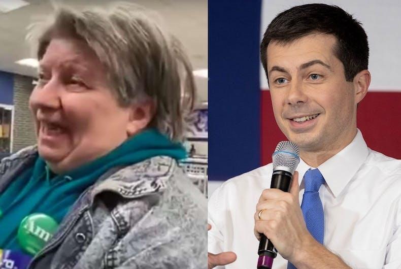 The Iowa voter who didn't know that Pete Buttigieg is gay and Pete Buttigieg