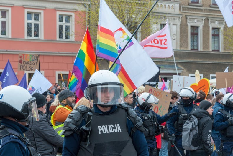 Nearly 1/3 of Poland territories now declare themselves as LGBTQ-free zones.