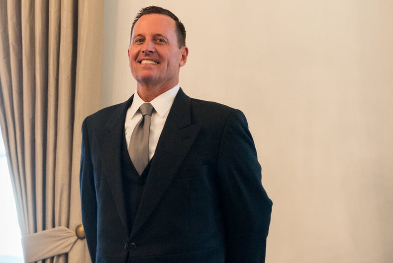 Richard Grenell, the gay ambassador to Germany and Trump's pick for acting Director of National Intelligence