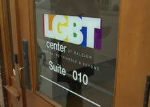 Stickers produced by anonymous white supremacist group used to deface LGBTQ center