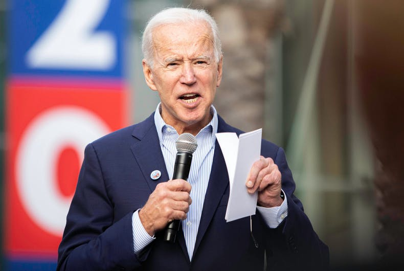 Presidential candidate Joe Biden, speaks during an event on Nov 14, 2019 at Los Angeles Trade–Technical College