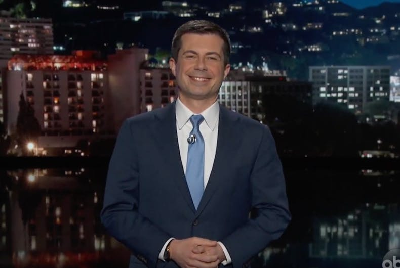 Former presidential candidate Pete Buttigieg hosting Jimmy Kimmel Live