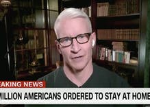 Anderson Cooper anchors his show from home due to fears that employee has coronavirus