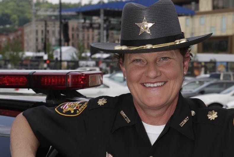 The sheriff fired a lesbian deputy. Now she's running against him & his own party is backing her.