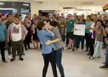 """Drag queens held a """"kiss-in"""" at a mall that booted a gay couple for smooching"""