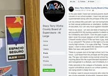 "Politician claims school's rainbow flag sticker is a sign of the ""collapse of humanity"""