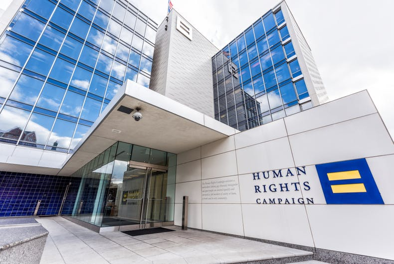 The Human Rights Campaign offices in Washington, DC.