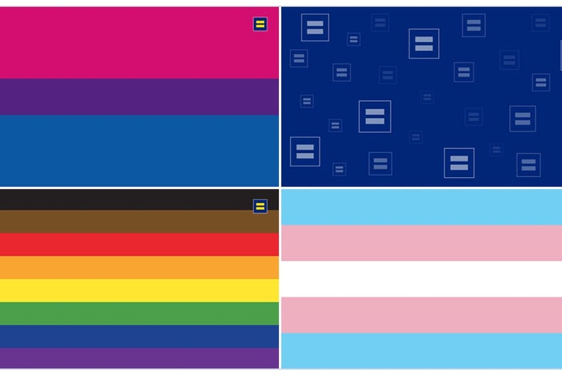 The Human Rights Campaign is offering four LGBTQ-themed Zoom backgrounds