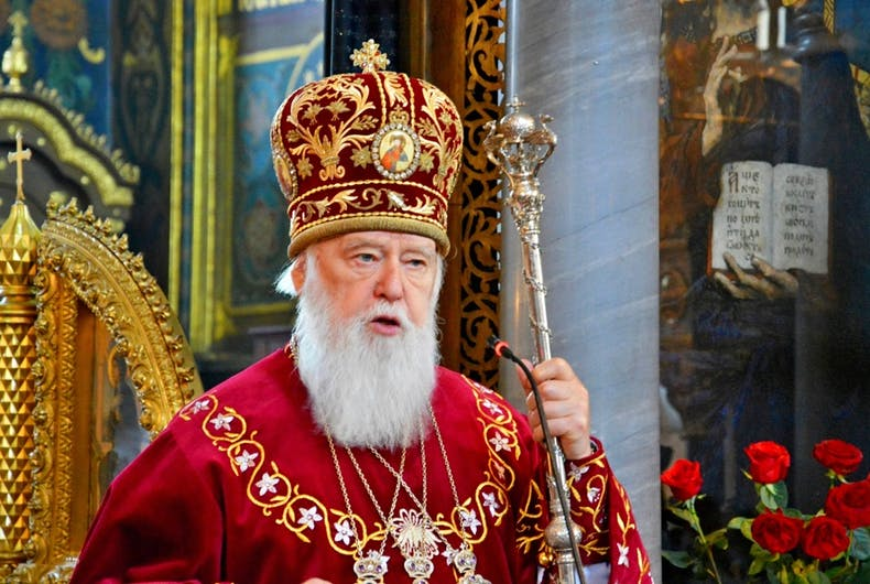Patriarch Filaret, head of the Ukrainian Orthodox Church
