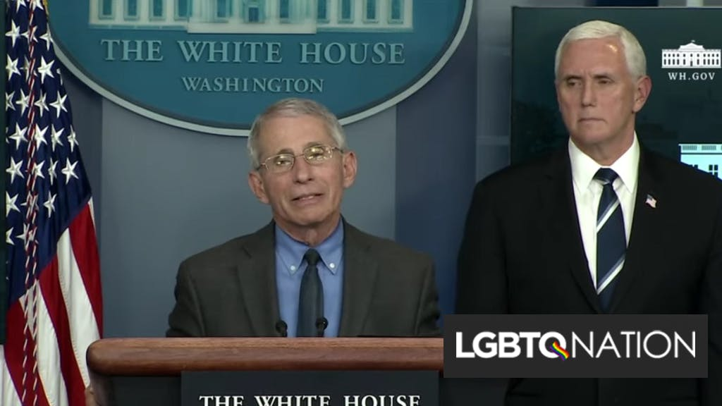 """Anthony Fauci calls out """"extraordinary stigma"""" gays face while standing right in front of Mike Pence"""