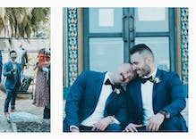 Gay couple's heartbreakingly beautiful wedding photos show love during pandemic