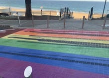 Someone keeps destroying a beach town's rainbow crosswalk so the city keeps repainting it