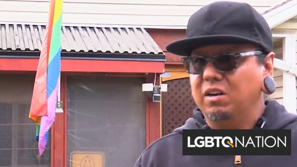 Couple who fly a rainbow flag at home targeted in drive-by shooting