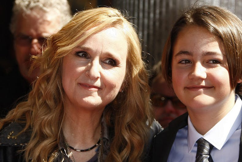 Melissa Etheridge and her son Beckett Cypher who died of an opioid overdose