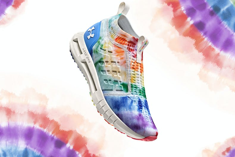 Under Armour's 2020 pride collection is based on the original hand-dyed Pride flag.