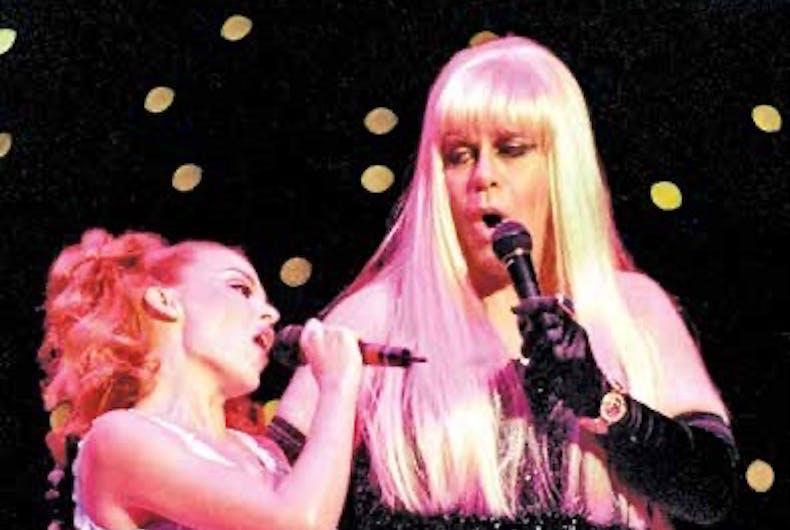 Kylie Minogue and Sir Elton John
