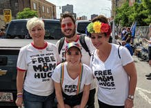 Pride in Pictures: Three people sobbed in her arms