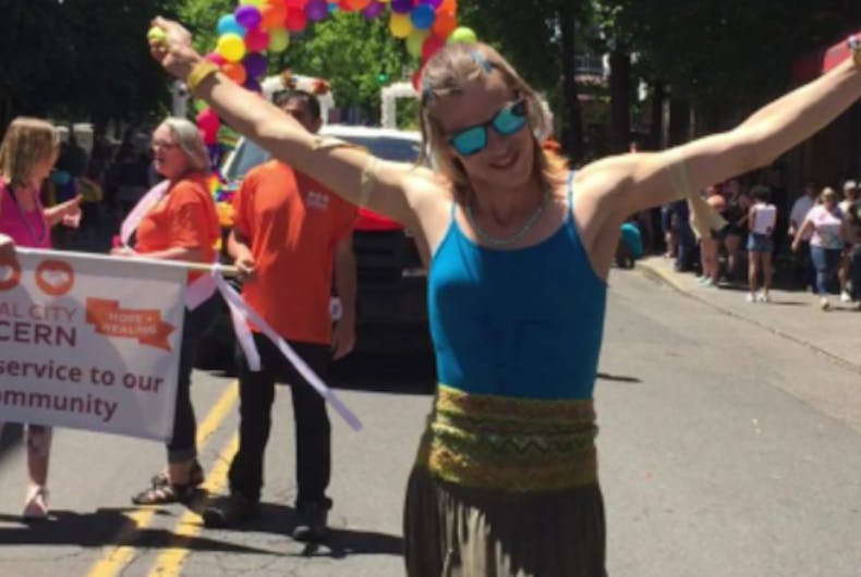 Sophie Ross in the Portland Pride Parade. June 16, 2019.