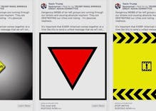 "Facebook removed Pence & Trump's ads that used a Nazi triangle to promote ""organized hate"""