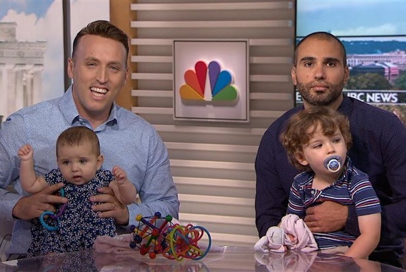 Roee and Adiel Kiviti, with their son and daughter.