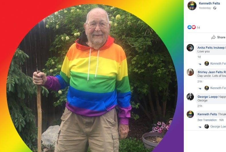 Kenneth Felts's rainbow profile pic