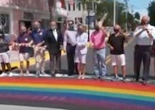 Key West just upgraded their rainbow crosswalks in a major way