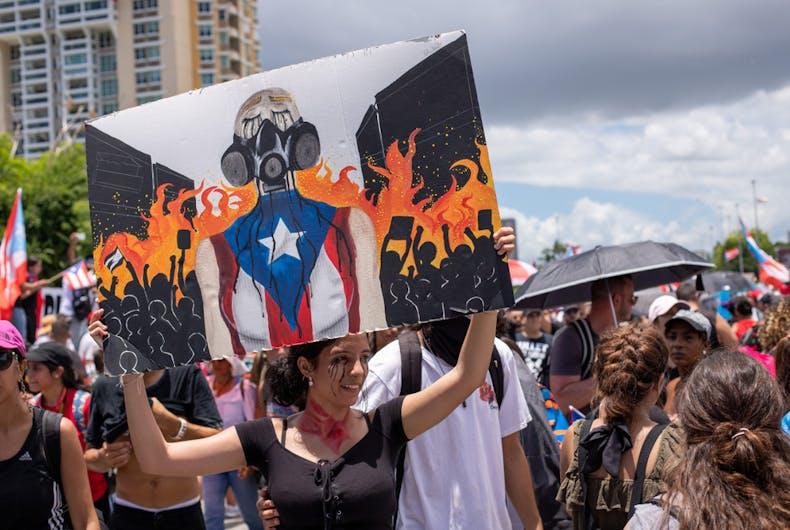 Puerto Rican protestors, LGBTQ, civil code